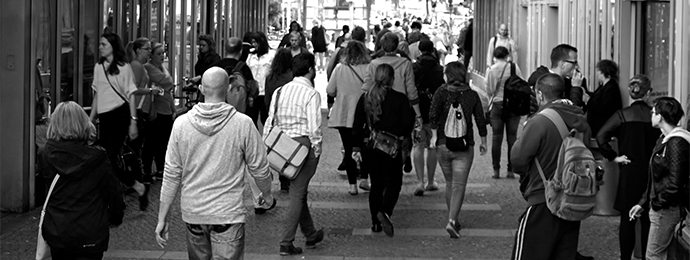 People walking in the street